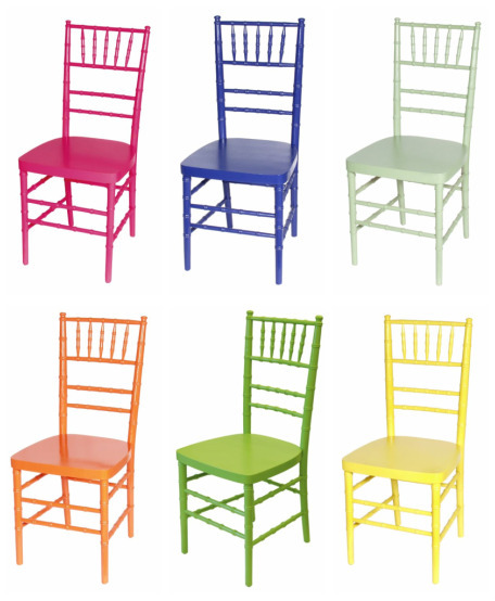 Farm tables bravo event party rental 39 s blog for Different color chairs